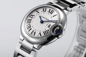 Replicas Cartier - globo azul serie W69010Z4 (trompeta) señoras reloj de cuarzo