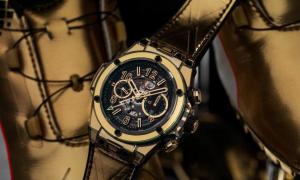 Relojes De Imitacion Hublot Big Bang Unico Shiny Gold Sapphire Usain Bolt Ein Einzelstück für einen reichen Bolt-Fan